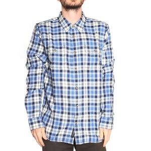 VANS Blue Flannel Long Sleeve Plaid Shirt